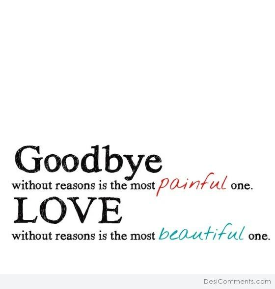 Goodbye without reasons...