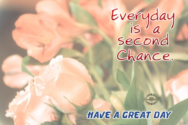 Have a great day - Everyday is a second chance