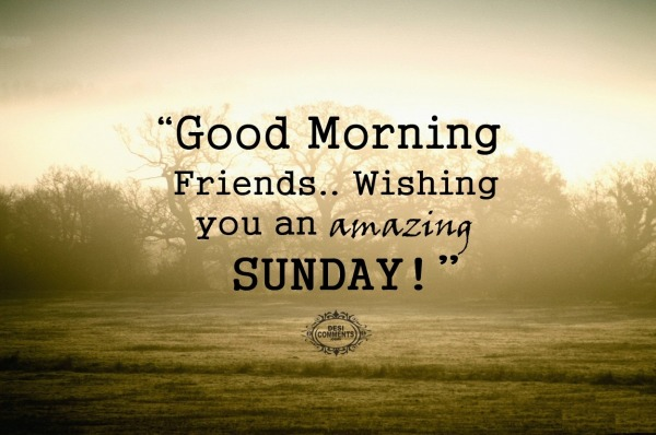 Wishing you an amazing sunday