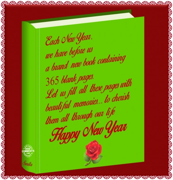 Happy New Year – 365 Blank Pages