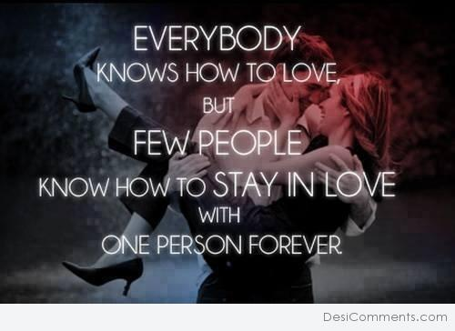 Everybody knows how to love...