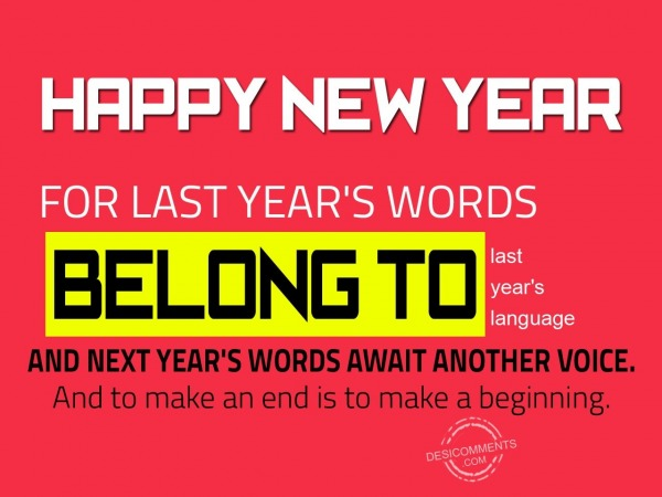 New year is to make a new beginning…