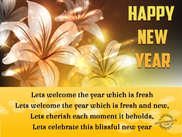 Picture: Let's welcome the year
