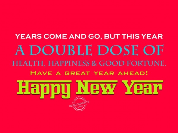 Picture: A double dose of health, happiness & good fortune...