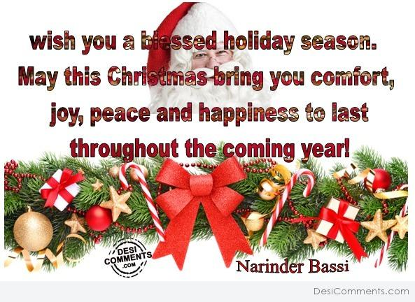 Wish you a blessed holiday season