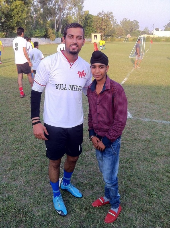 Picture: Garry Sandhu In Football Dress