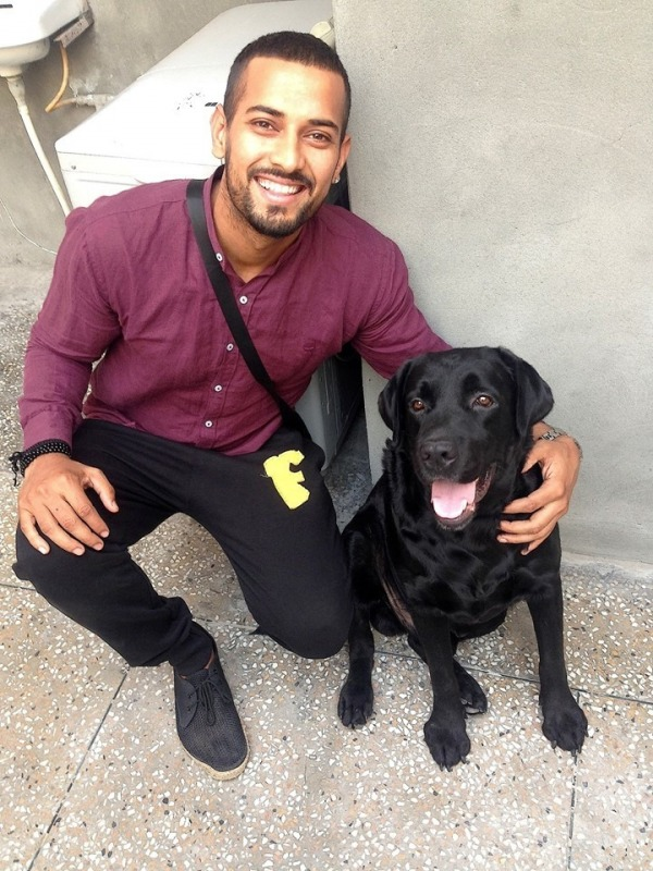 Picture: Garry Sandhu With Dog