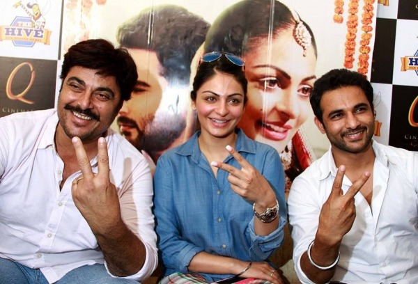 Guggu Gill With Neeru Bajwa And Harish Verma
