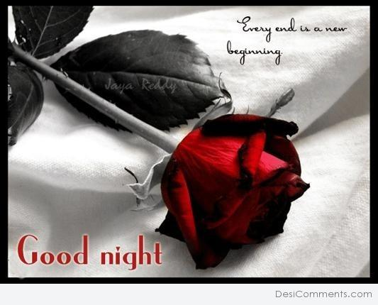 Good Night - Every end is a new beginning