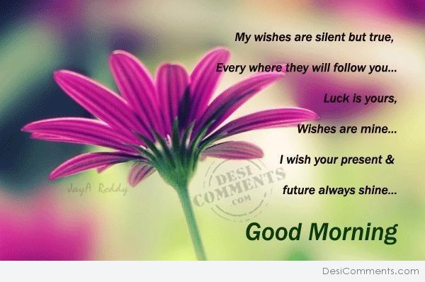 Good Morning - My wishes are silent but true...