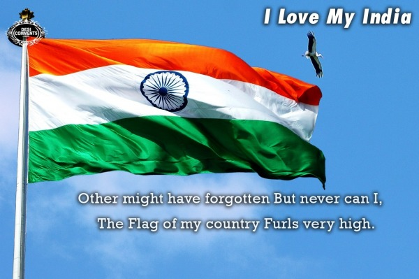 I Love My India - The flag of my country...