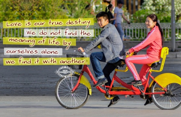 Love is our true destiny...