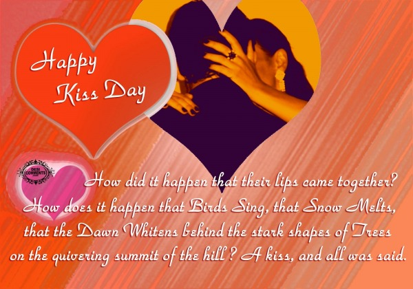 Happy Kiss Day - A kiss, and all was said
