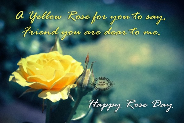 Happy Rose Day - A yellow rose for you