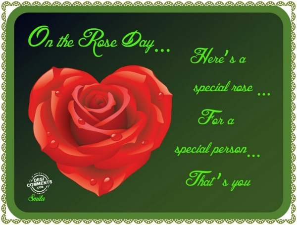 On the Rose Day…