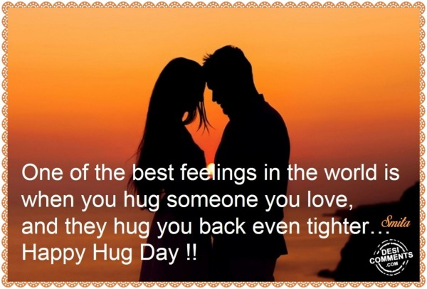 Happy Hug Day – One of the best feelings…