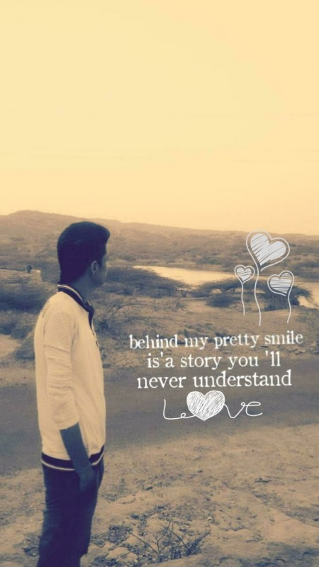 Behind my pretty smile it's a story you'll never understand