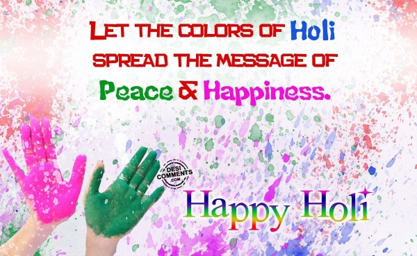 Let the colors of holi
