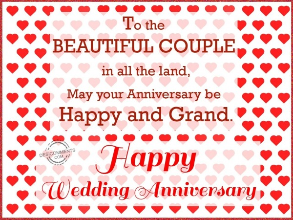 Happy Wedding Anniversary to the beautiful couple