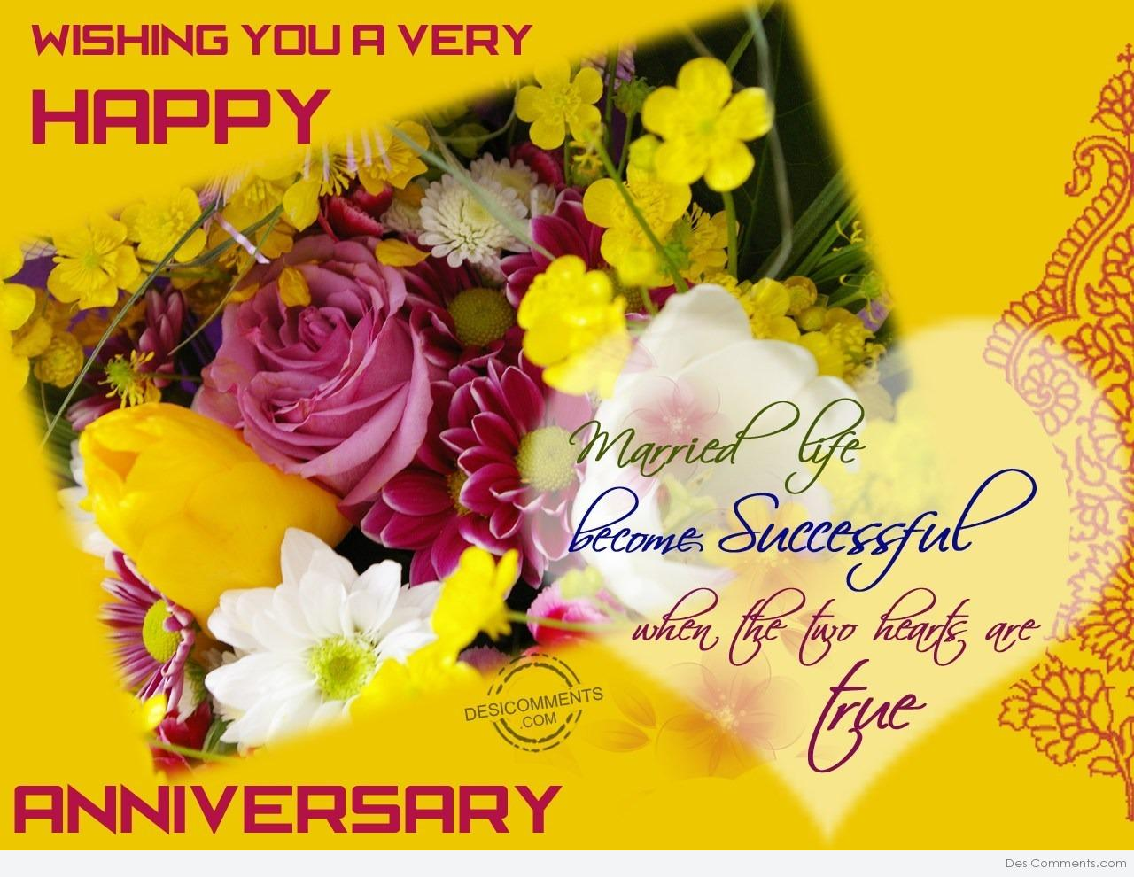 Wishing you very happy wedding anniversary desicomments