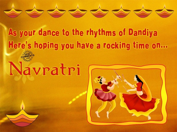 As your dance to rhythms of Dandiya..