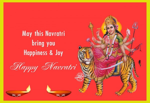 May this Navratri brings happiness