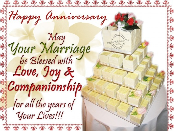 May your marriage be blessed with love and companionship