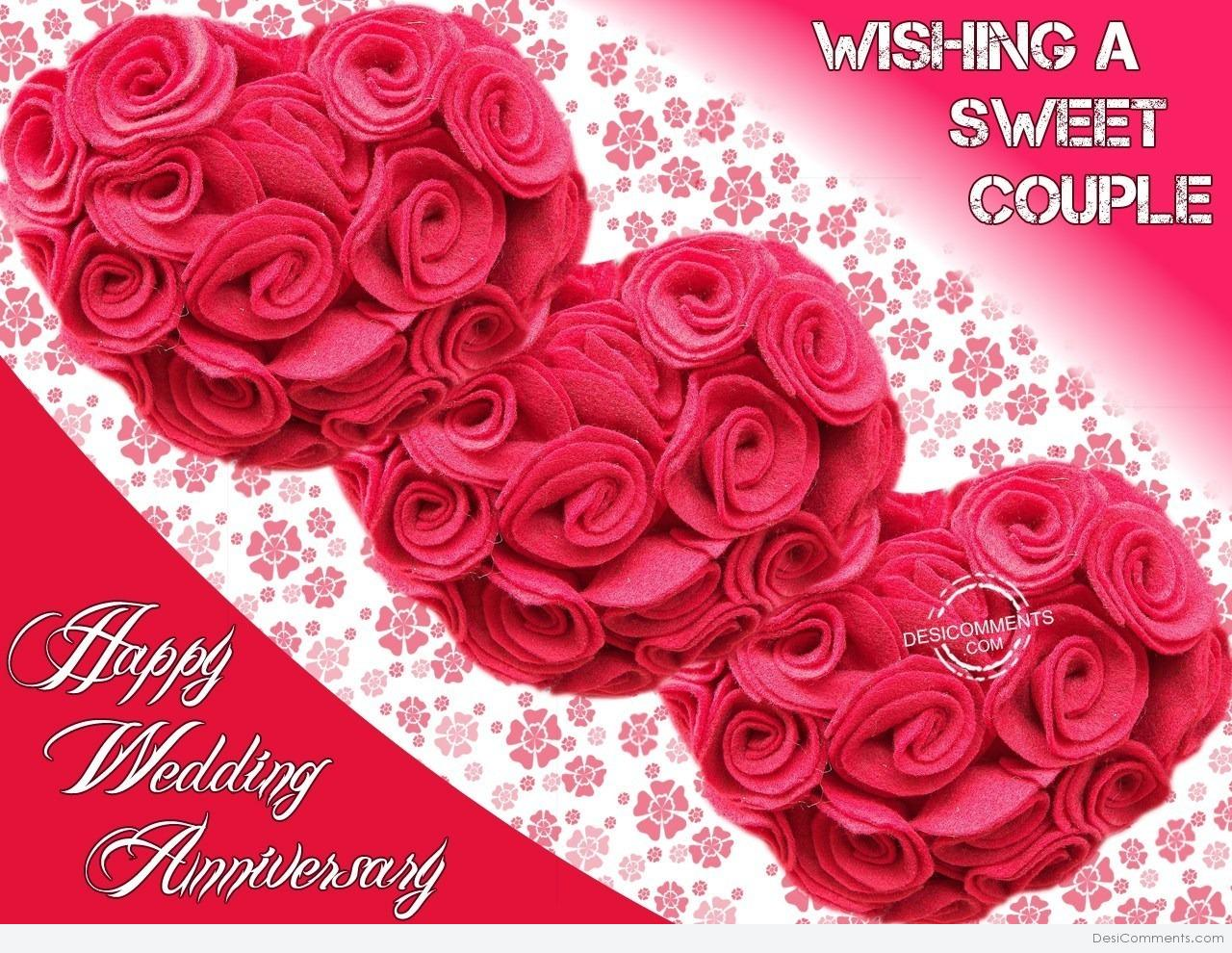 Wishing A Sweet Couple Happy Wedding Anniversary Desicomments Com
