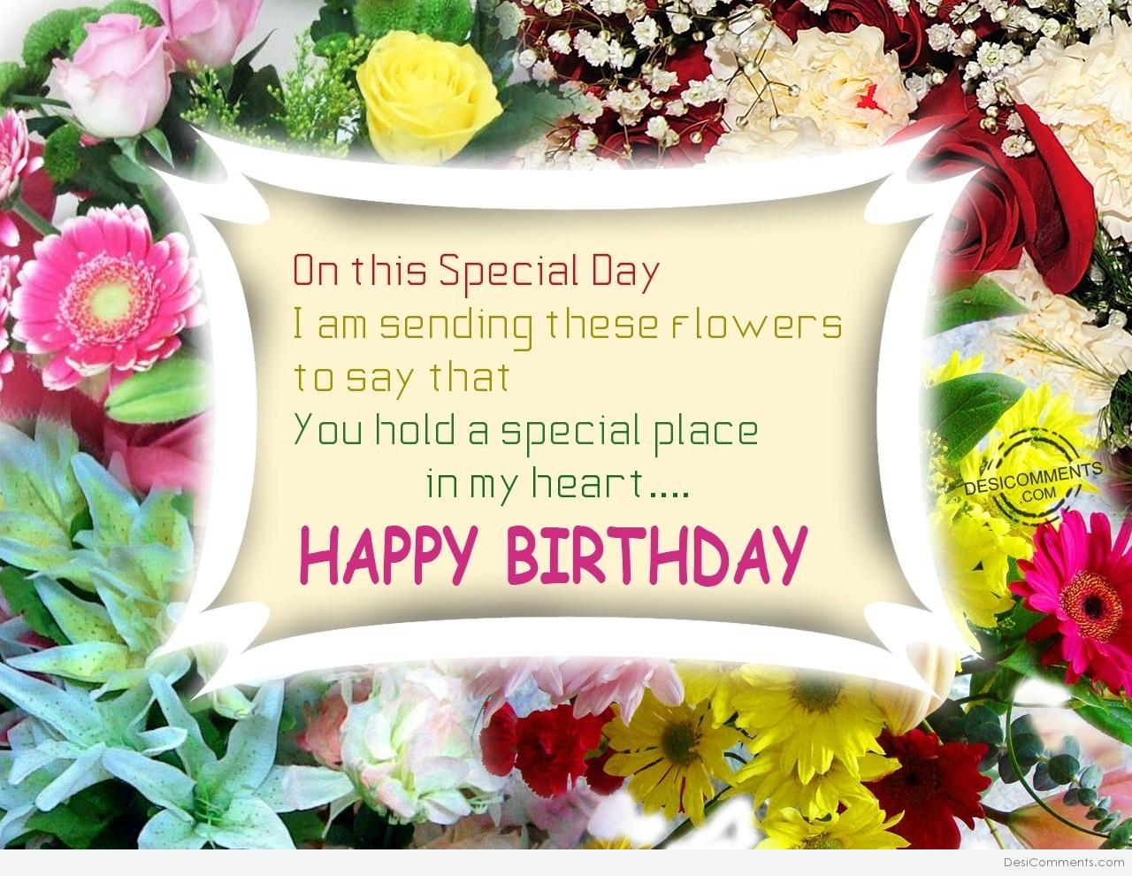 Accept My Flowers On Your Birthday Desicomments