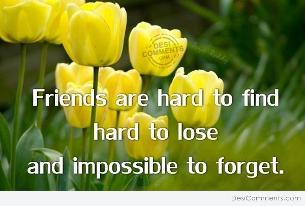 Friends are…