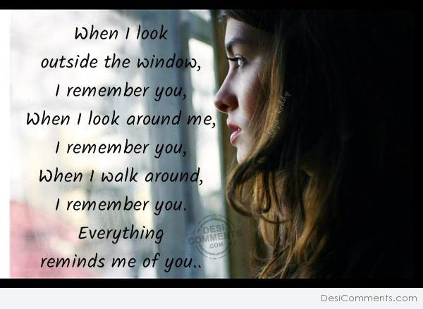 When i look..