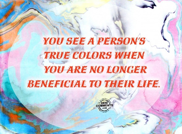 You see a person's