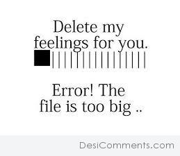 Delete My Feelings For You