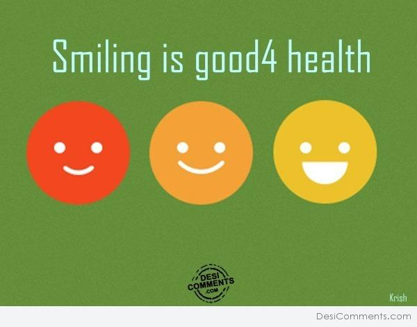 Smiling is good 4 health