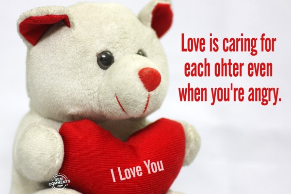 Love is caring for