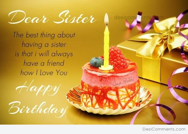 Birthday Wishes For Sister Desicommentscom