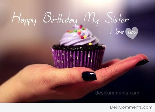 Happy Birthday My Sister Desicommentscom