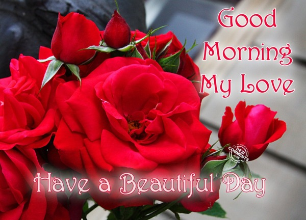 Good Morning with Roses - DesiComments.com