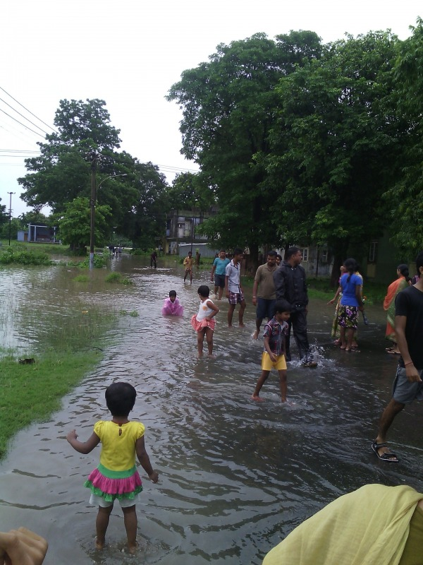 Water logging after rain at Jaduguda, Jharkhand