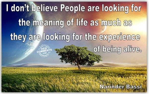 Meaning of Life....