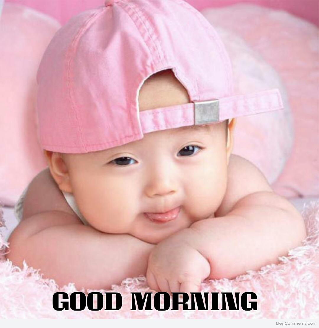 Cute Baby Saying Good Morning Desicommentscom