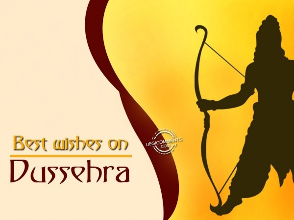 Best wishes on Dussehra
