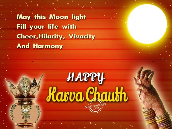 May this moon light fill your life with cheer