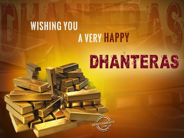 Picture: Wishing you  Happy Dhanteras
