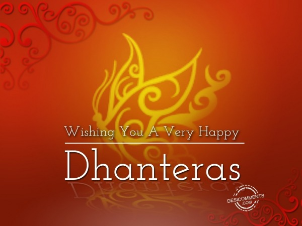 Wishing you a very Happy Dhanteras