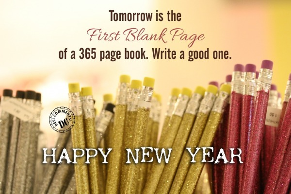 Happy New Year First Blank Page