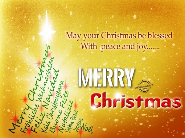 May your chrismas be blessed with peace