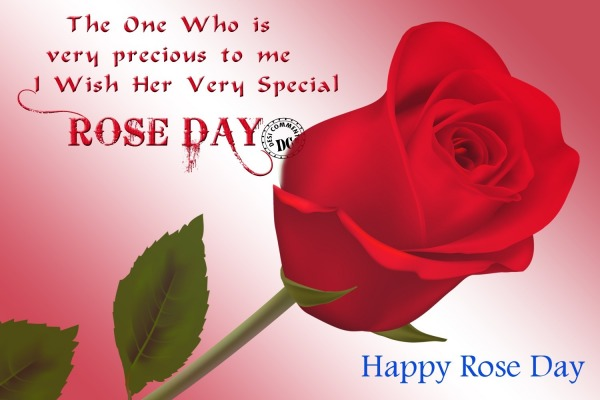 I Wish Her Very Special Rose Day