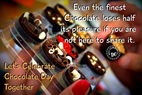 Let's celebrate Chocolate Day together