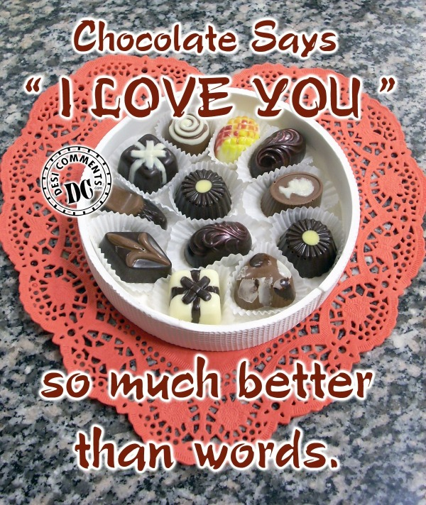 Picture: Chocolate Says I Love You
